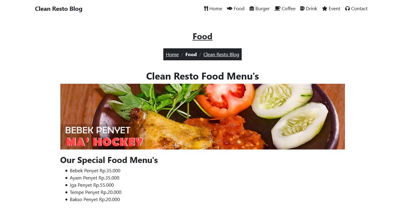 free restaurant website download gratis