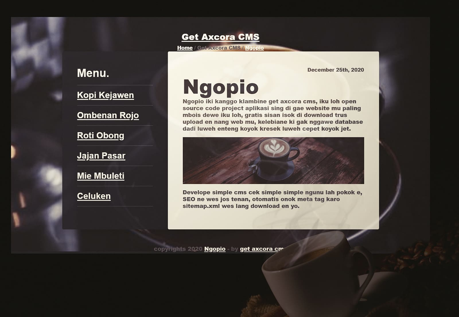 website new template themes web