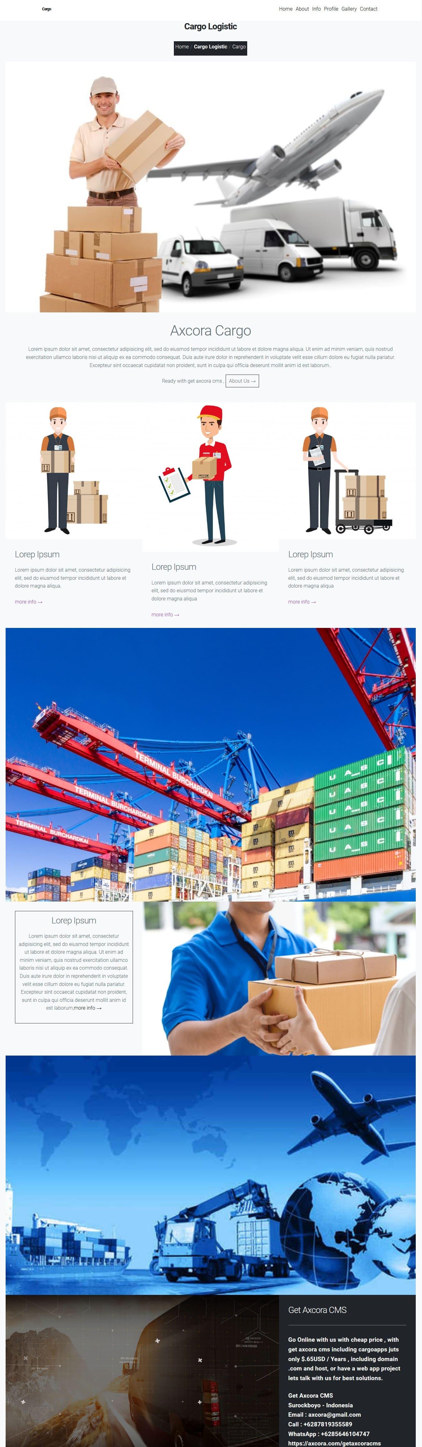 free download gratis website aplikasi ekspedisi kargo logistik pengiriman kurir