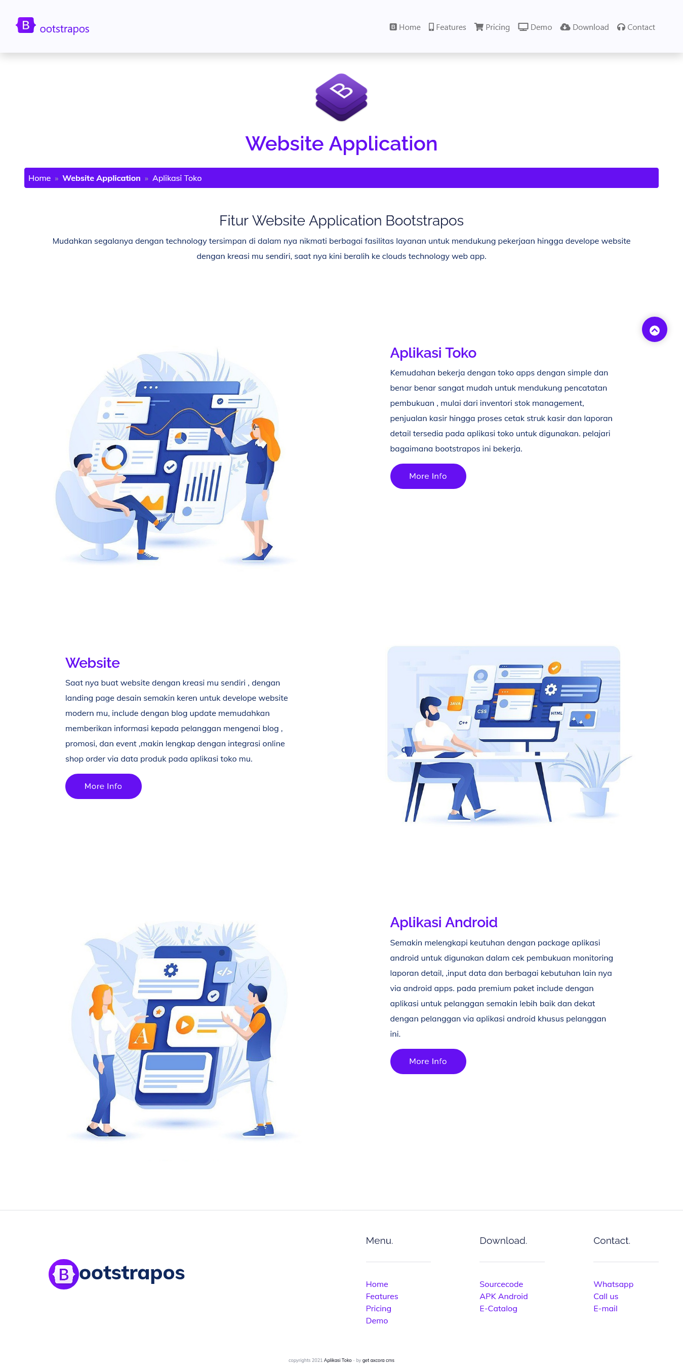 bootstrap landing page modern website template themes