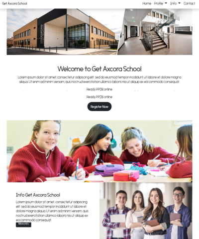 website sekolah, school website template themes