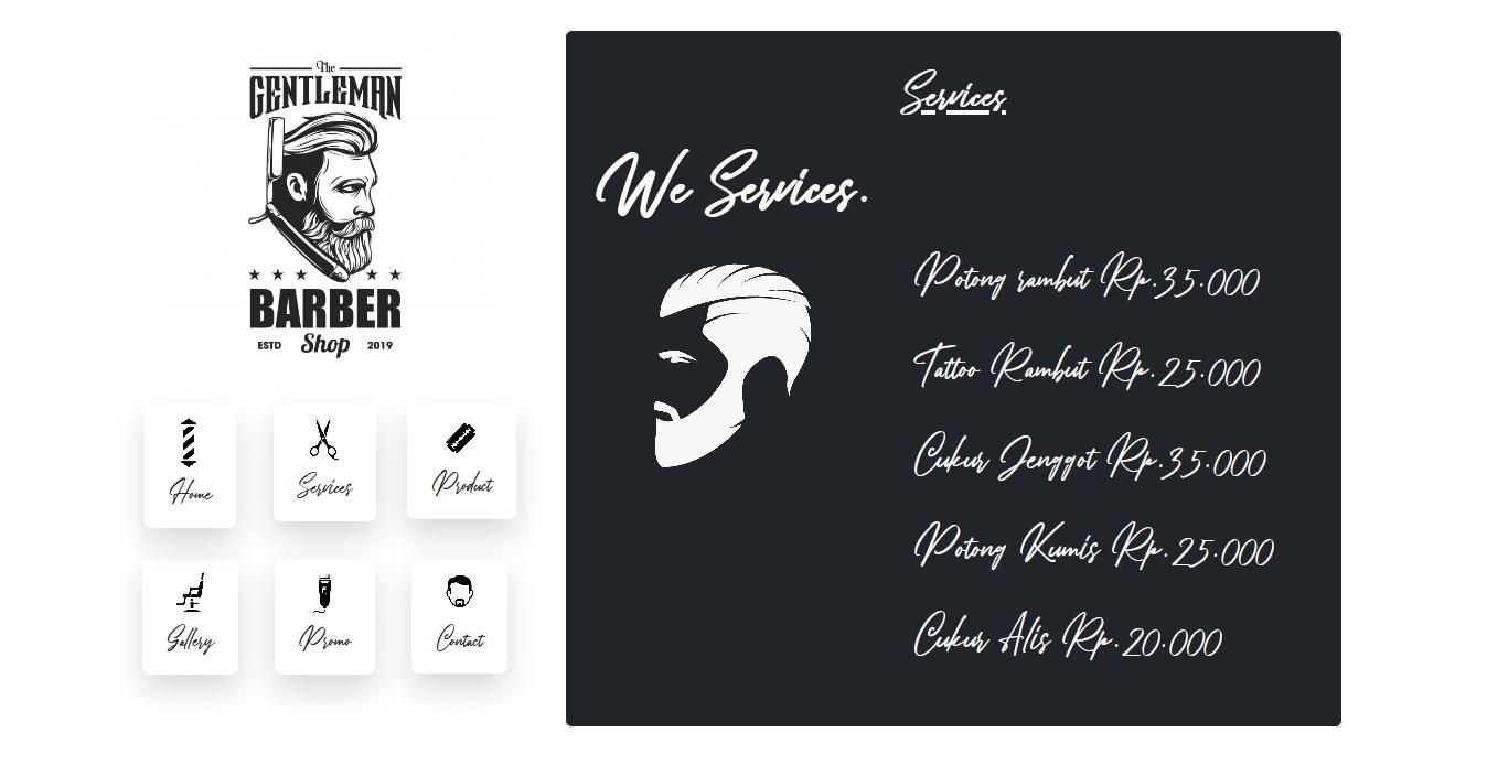 website barber shop salon themes template