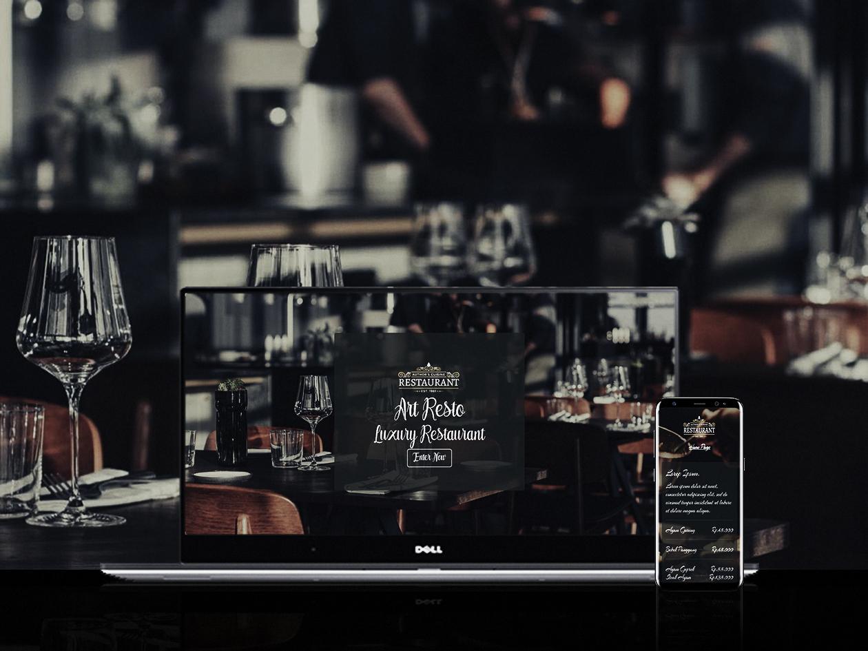pembuatan website restoran cafe rumah makan