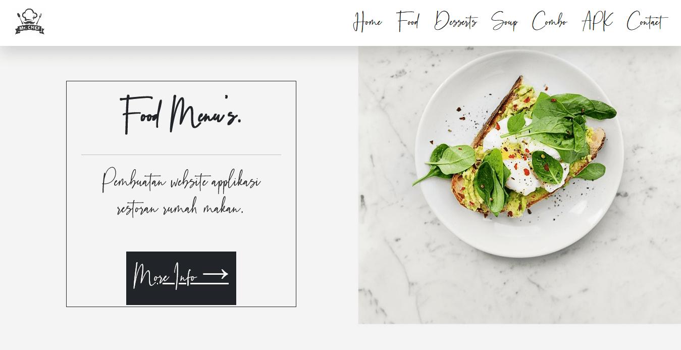 pembuatan website restoran online cafe rumah makan